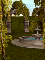 Forest Fountain by shd-stock