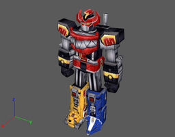 PRMM Megazord v1 by PapercraftKing