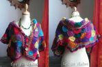 Patchwork capelet by MademoiselleOrtie