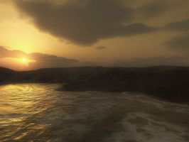 Sunset 2 - Sepia Version by WraithRealm