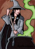 Spellcasters Sketch Card 7 by ElainePerna