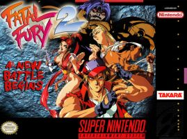 Fatal Fury 2 SNES box cover by Hellstinger64