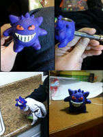 Gengar Pipe In Progress by Winstopian