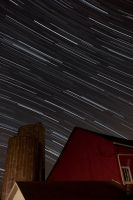 Startrails at the farm by amhaley