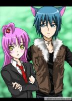Amu and Ikuto by shrimpHEBY