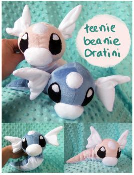 Teenie beanie Dratini plush by scilk
