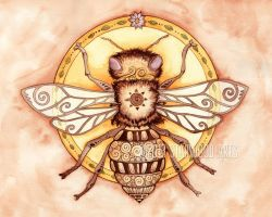 Honey Bee Mandala by starwoodarts