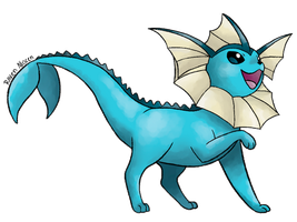 #134 Vaporeon by allocen