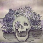 Skull and Flowers by OtakuandWords