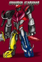 Dino Fury...Megazord? by TheBackPageComics