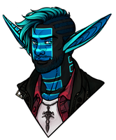 Cobalt - Commission Bust by IrisHime