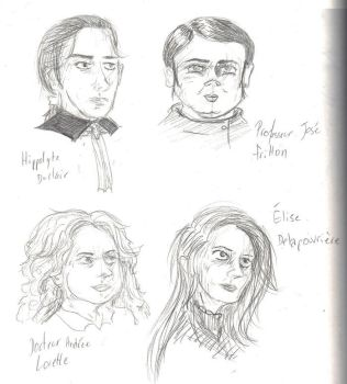 1860 - the four main characters by huguett