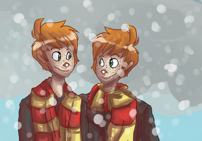 Fred and George by TeezGeez