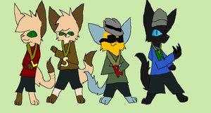 Gangsta kitties by rosetheeevee12
