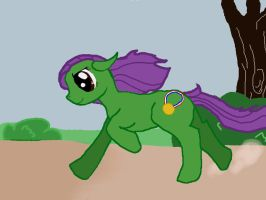 My cousins pony :p by Laxmortaxbella
