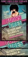 Funky Vibes Party Club Flyer template by Hotpindesigns