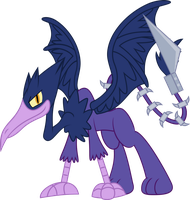 Purple sky griffon by Dalekolt