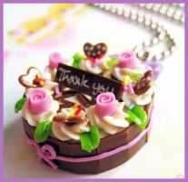Lilac Rose Cake Necklace by cherryboop