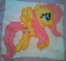 Crochet Blanket - FlutterShy by BlackPie