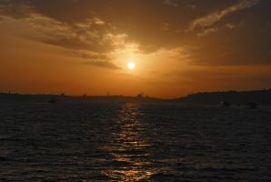 Bosphorus tour - Sunset 2 by LLukeBE