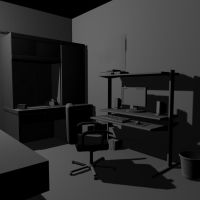 My Room - 3d model - WIP by mhofever