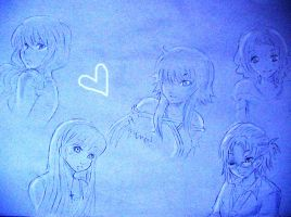 Friends Sketch by MirukuTea