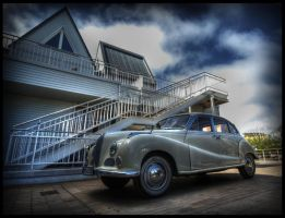 old white car by brandybuck