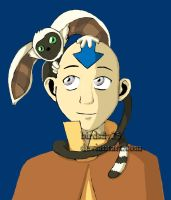 Momo and Aang colored by Birdsfly25