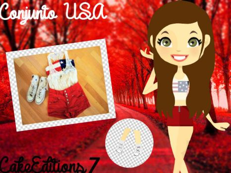 Conjunto USA by CakeEditions7
