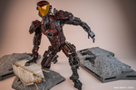Mech Android Warrior Pose1 3d by cytherina
