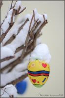 easter egg on the tree by Rainbiker