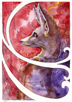 Perception of a fox by Kate-FoX