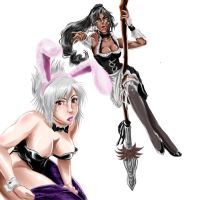 Bunny Riven-French Maid Nidalee (2/3) by asa94