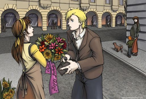 .:buying flowers for you:. by dzioo