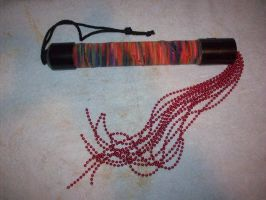 Red Beaded Flogger by awfulhorrid