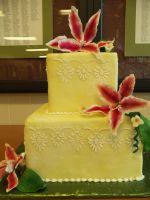 Yellow Wedding Cake by zamor438