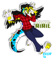 Com: Mimie Fullbody Badge by batbeasts