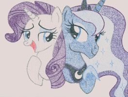 Rarity Luna Stipple by TheStippleBrony