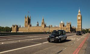 Parliament Big Ben and Black Cabs by BusterBrownBB