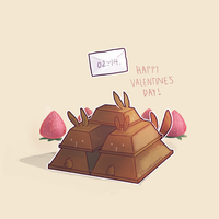 Choco bunny Valentines by epicawesomepieisepic