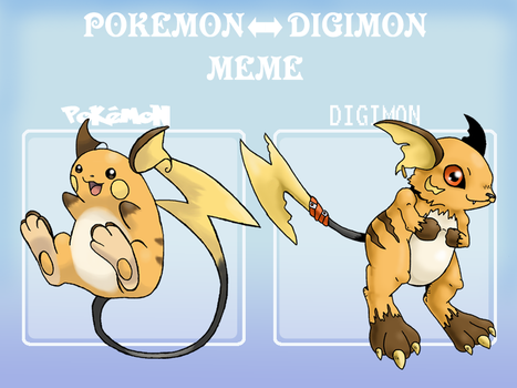 Pokemon digimon meme example by G-FauxPokemon