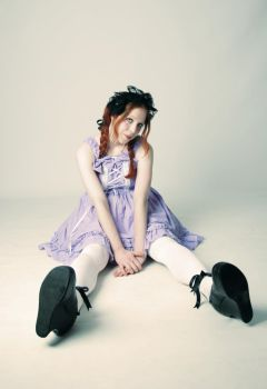 Sitting Lolita girl - Stock by memersonphotographic