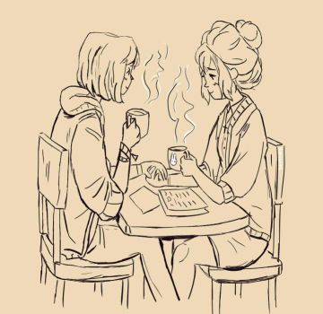 Tea Party - Life is strange - Kate x Max by DaroLoire