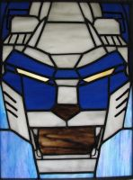 Voltron Blue Lion Stained Glass by AutobotWonko