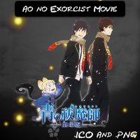 Ao no Exorcist Movie ICO & PNG V2 by bryan1213
