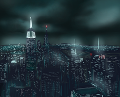 Manhattan skyline by ShadowClawZ