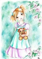 Girl with bear by Mab87