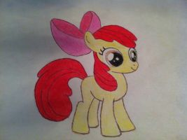Applebloom Drawing: Paper and Pencil by TheAgent777
