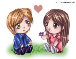 Twilight- Edward + Bella Chibi by AStudyInScarlet