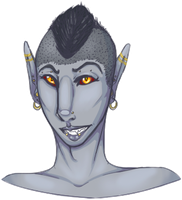 lucid the dunmer [ bust ] by canine-rein